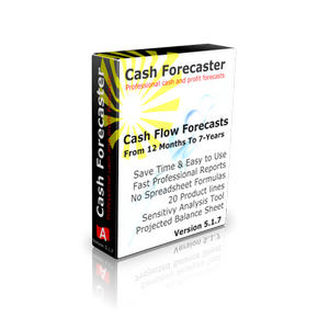 Cash Forecaster Software V 5.1.7 300 x 300 - Cash Flow Forecasting Software - Double entry done and automatically balance sheet