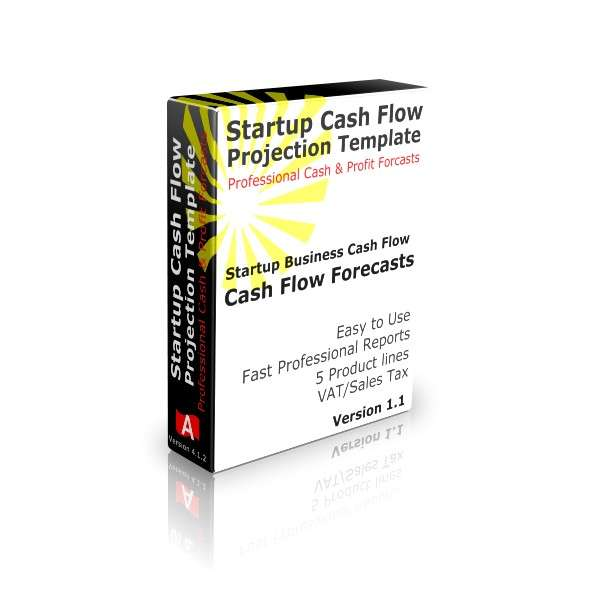 Startup Cash Flow Projection Template Software