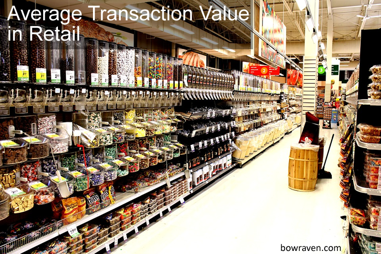 Average transaction value in retail