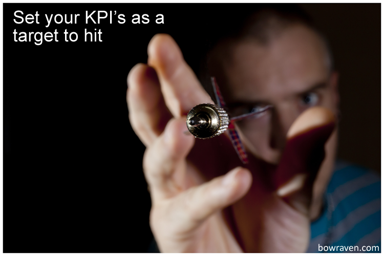 Set your KPI's as a target to hit - key performance indicators examples