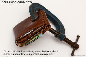 Increasing cash flow using credit management